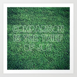 The Grass is Greener in Your Yard Art Print