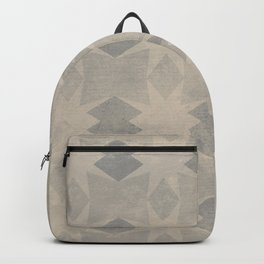 Geometric seamless pattern design on a grunge texture Backpack