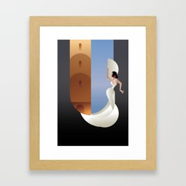 Art Deco styled Spain Flamenco dancer Framed Art Print