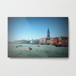 Approaching St Marks Square, Venice, Italy Metal Print