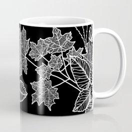 Leaves Black Coffee Mug