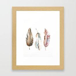 Boho FEATHERS Framed Art Print