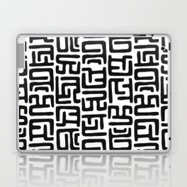 Black And White African Abstract Shapes Laptop & iPad Skin