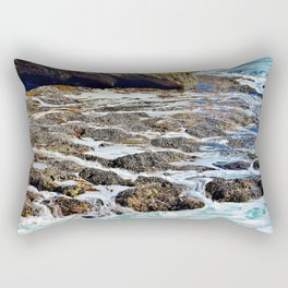 Water cave and mussels Rectangular Pillow