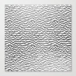 Elegant abstract faux silver foil geometric pattern Canvas Print