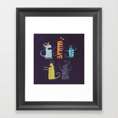Secretly Vegetarian Monsters Framed Art Print