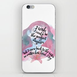 the perfect daughter - moana iPhone Skin