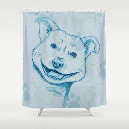 Happy PitBull Shower Curtain