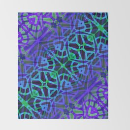 Fractal Art Stained Glass G318 Throw Blanket