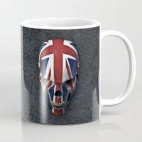 british flag Mugs featuring British horror by GrandeDuc