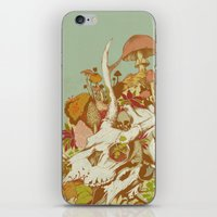 skulls iPhone & iPod Skins featuring skulls in spring by Teagan White
