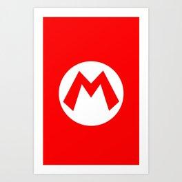 Nintendo Mario Art Print