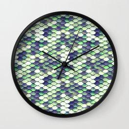 Green Mermaid Sclaes Wall Clock
