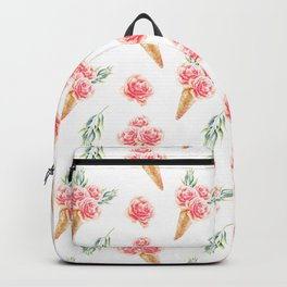 Floral Cones Pattern Backpack