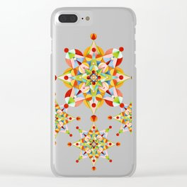 Rainbow Carousel Starburst Clear iPhone Case