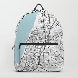 Tel Aviv City Map of Israel - Circle Backpack