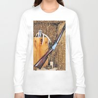 winchester Long Sleeve T-shirts featuring Winchester Rifle by Captive Images Photography