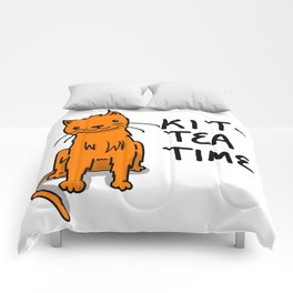 Kit-Tea Time | Veronica Nagorny  Comforters
