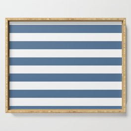 Blue and White Stripes Serving Tray