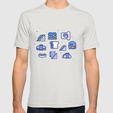 Sandwiches MEDIUM Silver Mens Fitted Tee