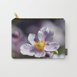 Pretty in White and Purple Carry-All Pouch