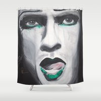 neil gaiman Shower Curtains featuring Neil by 4:F by Freddie:4