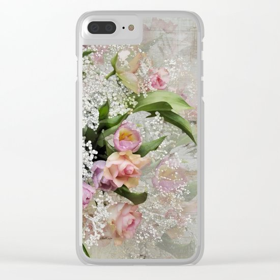 Happy Flower Explosion Clear iPhone Case