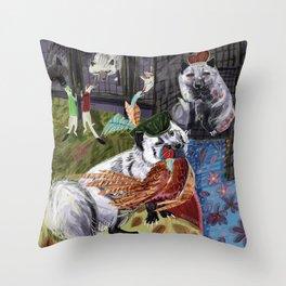 Prince and Princess Fox Throw Pillow