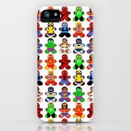 Superhero Gingerbread Man iPhone Case