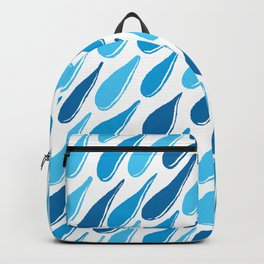 monochromatic blue aqua turquoise navy teal sapphire Backpack