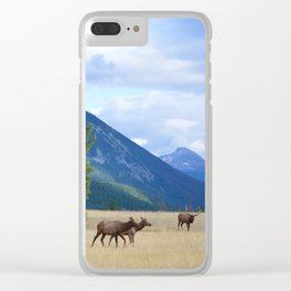 Bull Elk with his Harem Clear iPhone Case