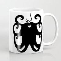 mustache Mugs featuring Mustache by Nicole Rheingans