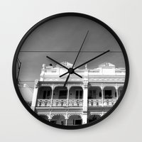 melbourne Wall Clocks featuring Melbourne by Hannah