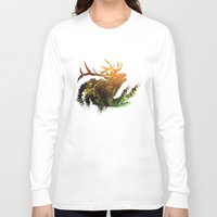 elk Long Sleeve T-shirts featuring Elk by Justin Kedl
