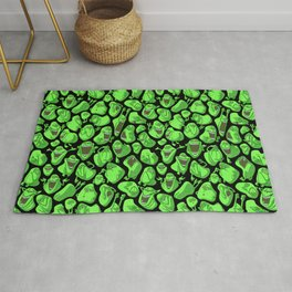 Fifty shades of slime. Rug