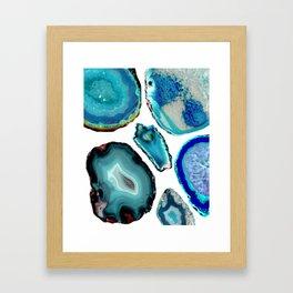 Blue Lagoons Framed Art Print