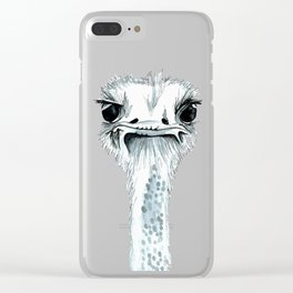 Percy the Ostrich Clear iPhone Case