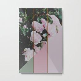 Pink Roses Palette Metal Print