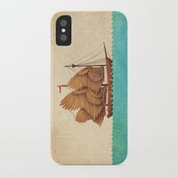 brown iPhone & iPod Cases featuring Winged Odyssey by Terry Fan