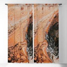 Melted Orange Marble Blackout Curtain