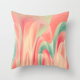 Abstract color harmony Throw Pillow