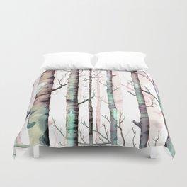 Birch Tree Forest Duvet Cover