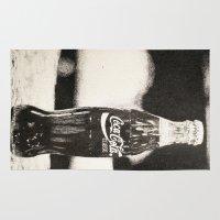 coke Area & Throw Rugs featuring Coke Bottle by feralsister