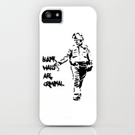 Blank Walls Are Criminal iPhone Case