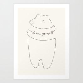 Love Yourself Bear Art Print