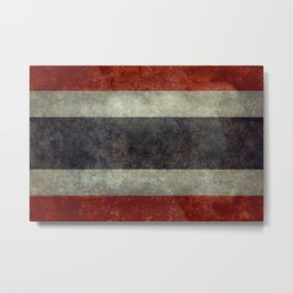 The National flag of Thailand, (formerly known as Siam) To scale Vintage version Metal Print