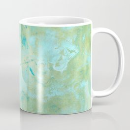 Blue & Gold Abstract Marble Coffee Mug