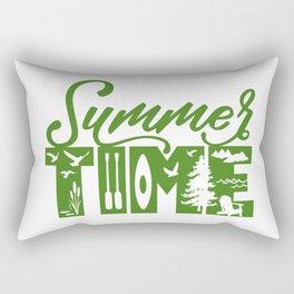 Summer TIME at the Lake Green Rectangular Pillow