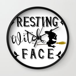 Resting witch face Wall Clock