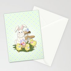 White Rabbit and Easter Friends Stationery Cards